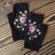 Rose Knit Handwarmer