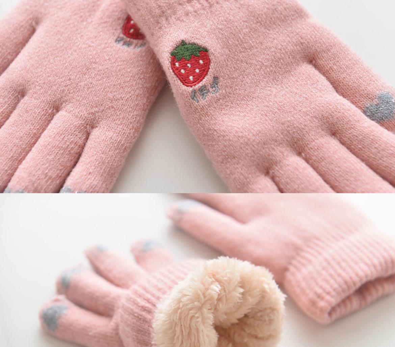 Strawberry Mitten 3-7Y