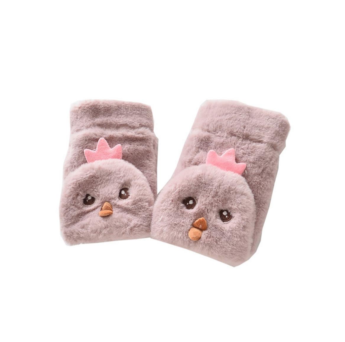 Fuzzy Chick Glove 6-10Y