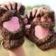 Cat Paw Fingerless Gloves