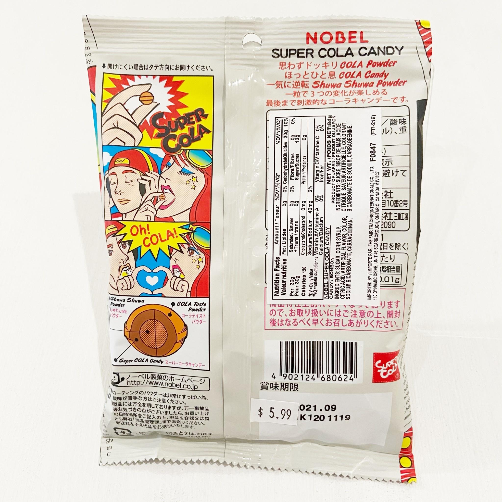 Nobel Nobel Super Cola Sour Candy 84g