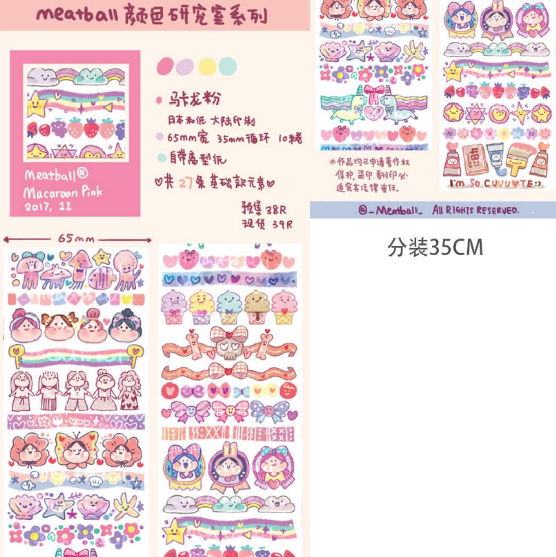 Meatball Stickers
