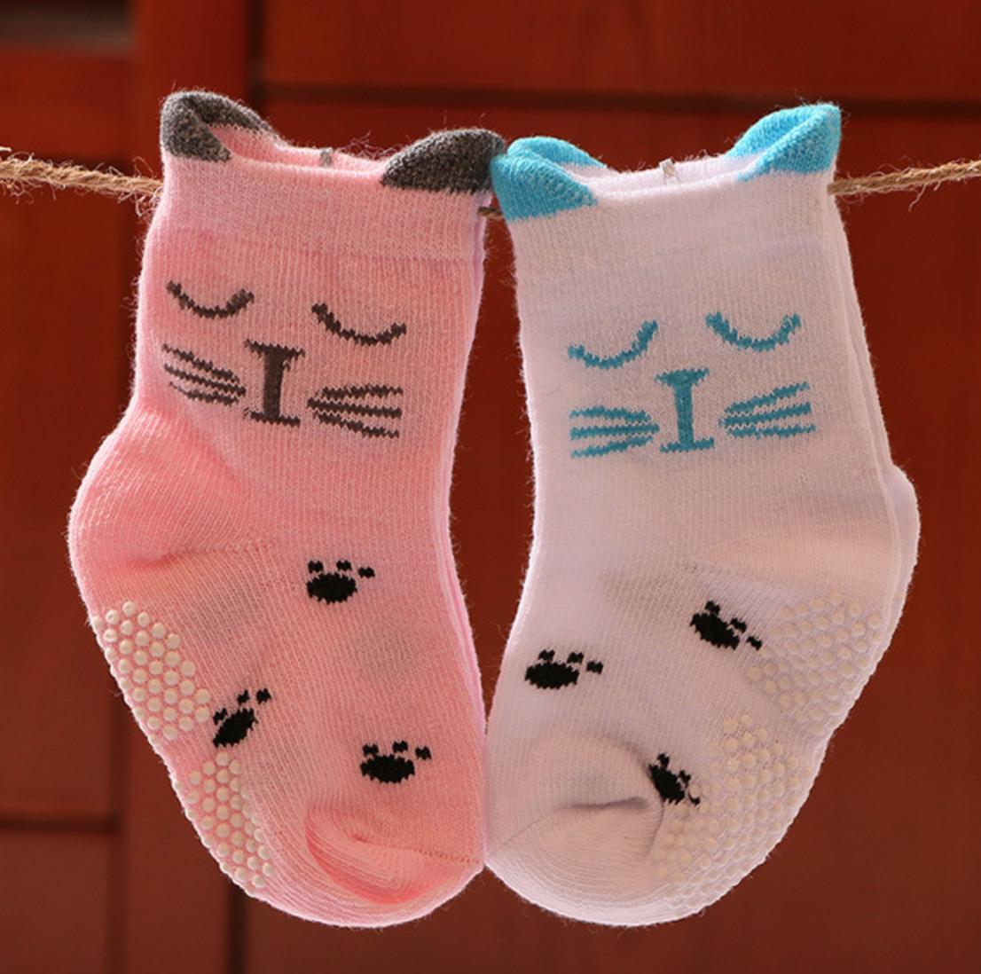 Dot Face Children Sock - 1-3Y/PinkBlue