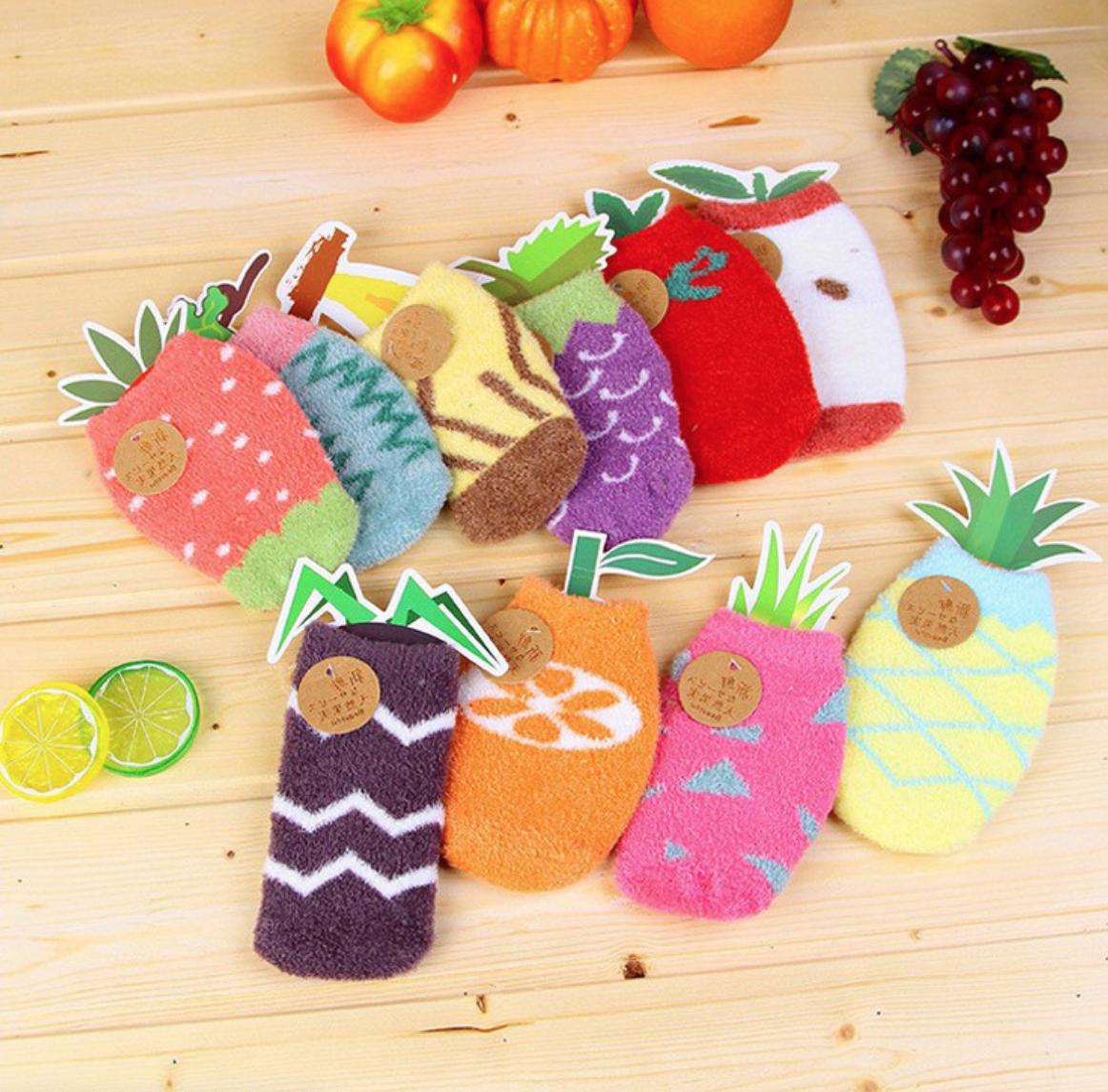 Fuzzy Fruit Sock 1-3Y