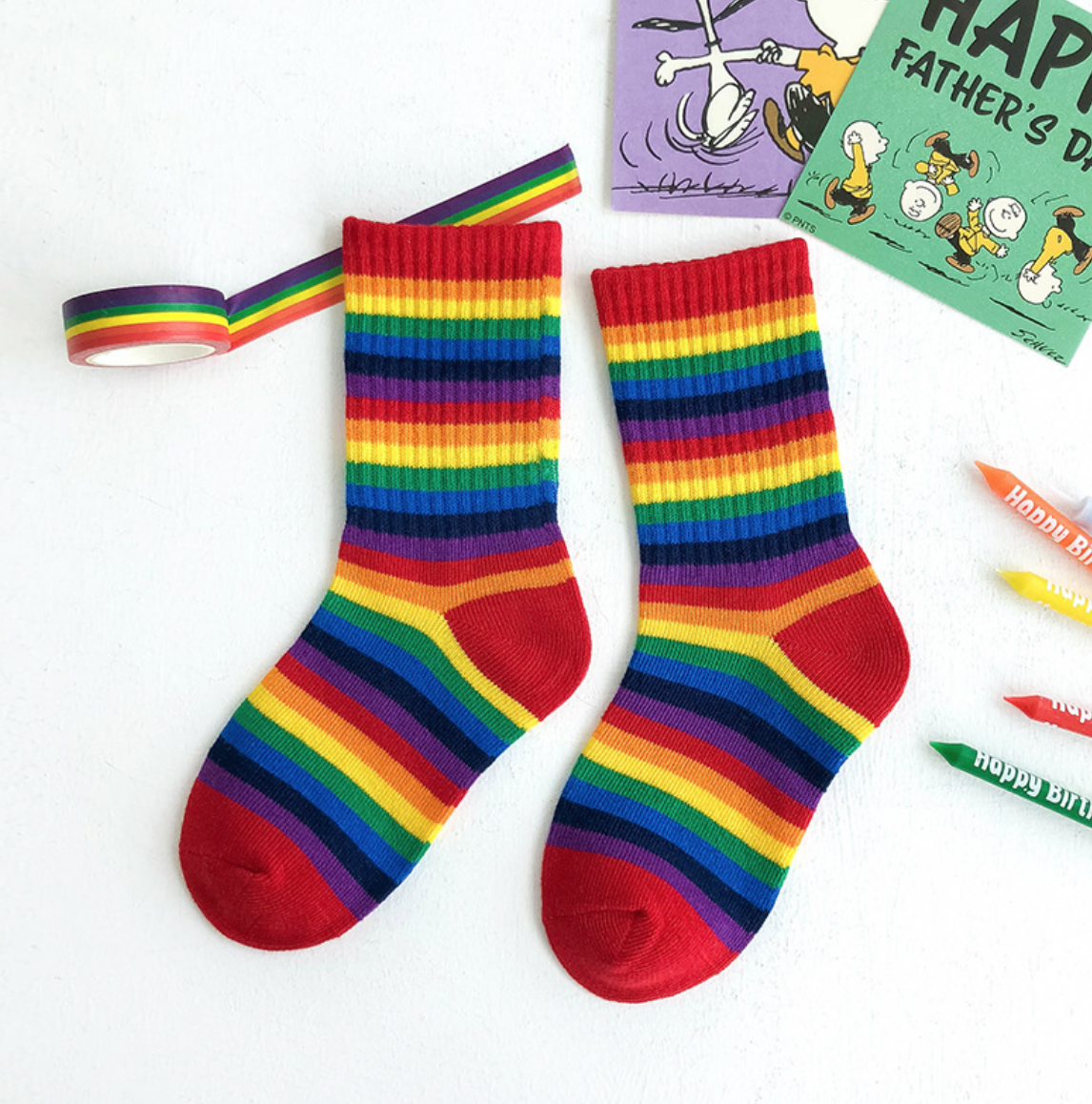 Rainbow Knit Sock 9-12Y