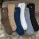 Bear Fuzzy Sock Black