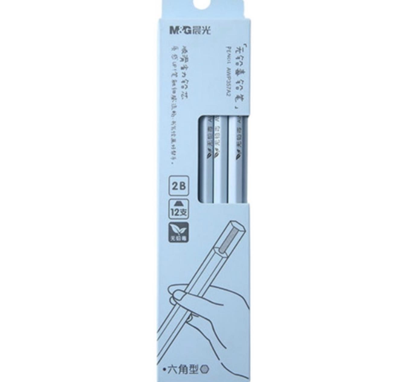 AWP357A2 2B Hexagon Wood Pencil
