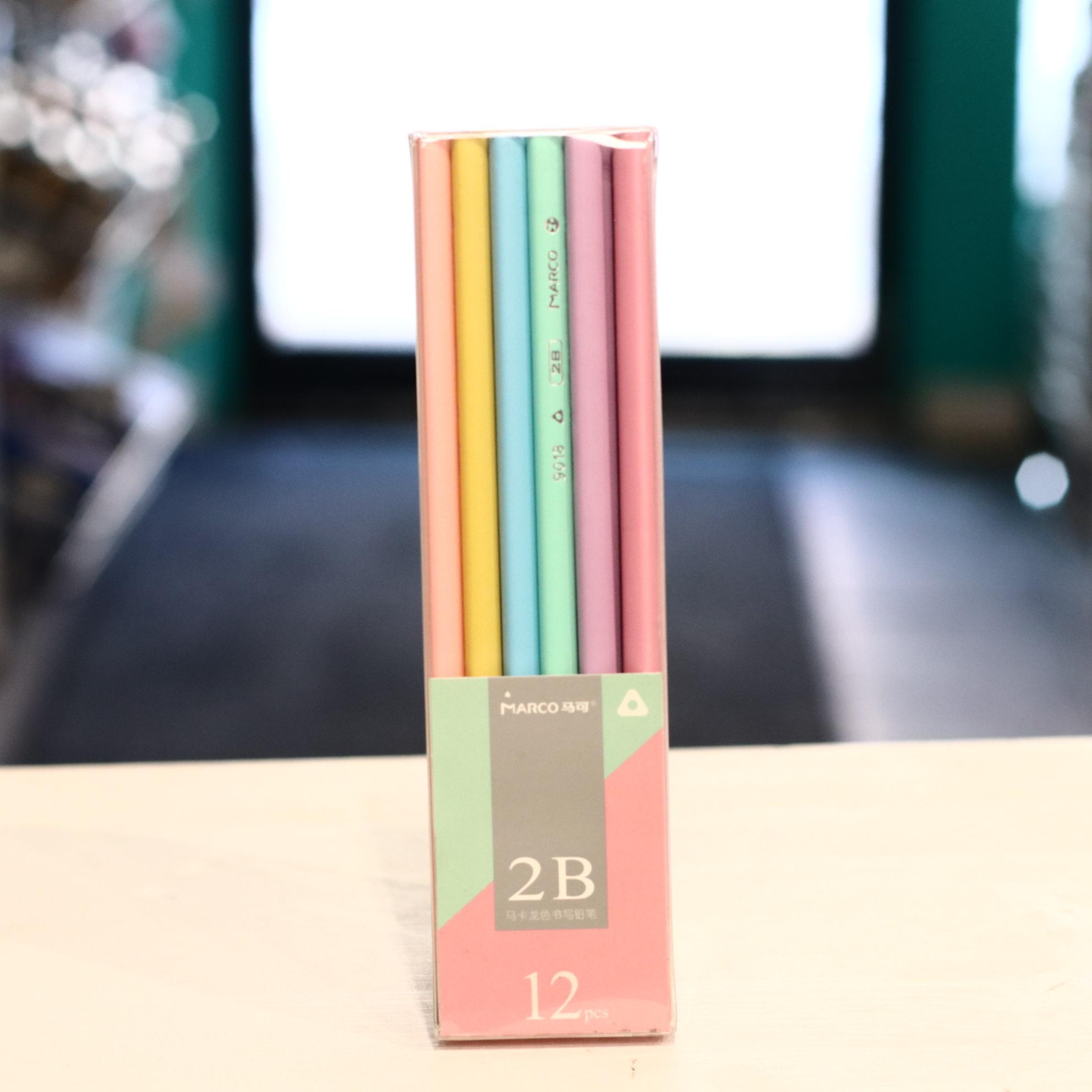 D9018-2B-12PB(T) 2B Macaron Pencils Box