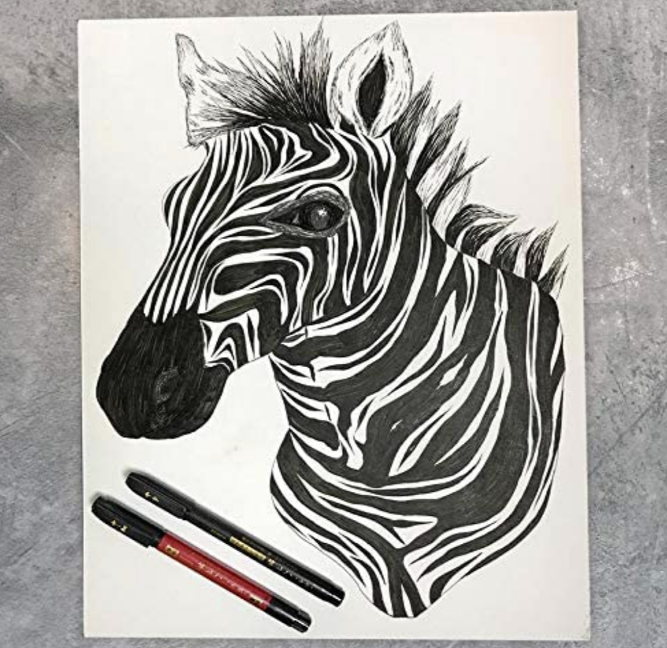 Zebra Zensation Brush Pen Assorted 6 Set