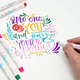 Zebra Funwari Fude Brush Pen Assorted 6 Set