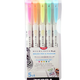 Zebra Mildliner Double ended Brush Pen 5pk