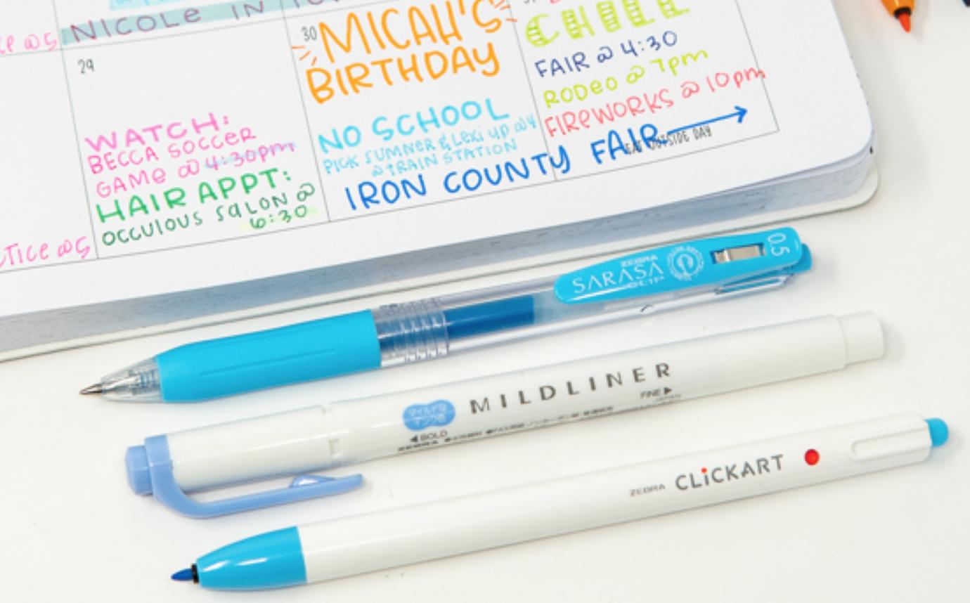 Zebra ClickArt Retractable Marker Pen 0.6mm