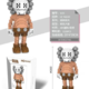 HC-1635 KAWS Brown Sweater Standing Building Block