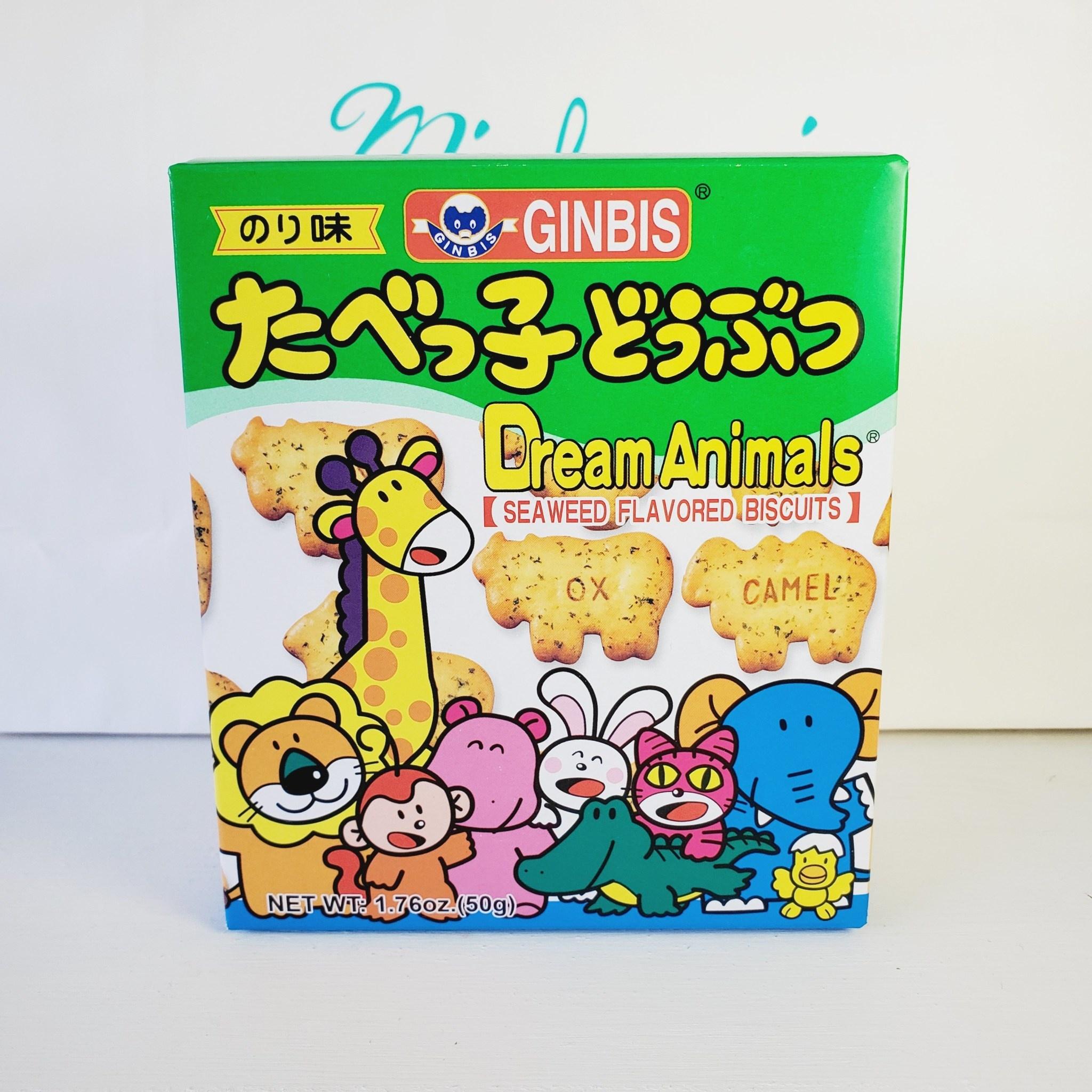 JFC GINBIS Seaweed Animal Cookies