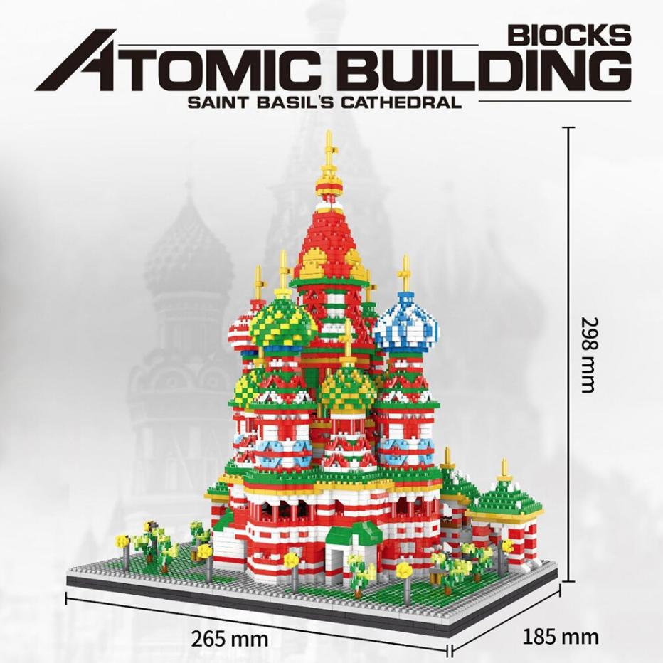 Atomic 9918 St. Basil Cathedral Building Block