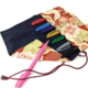 Brush Sign Pen 8 Set w/ Kimono Textile Case
