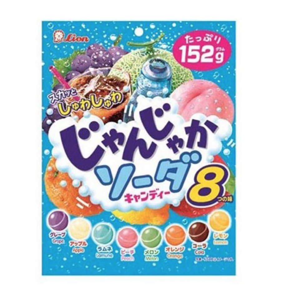 Lion Lion 8 Assorted Fruits Soda Candy