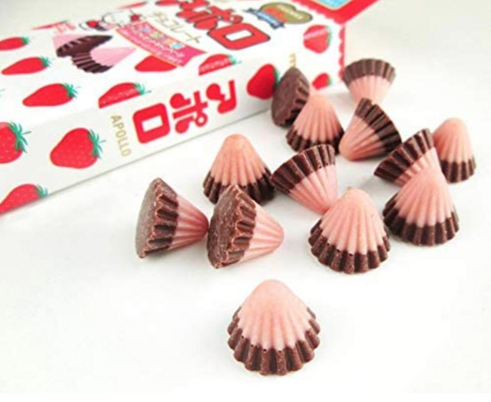 Meiji Meiji Apollo Chocolate Strawberry