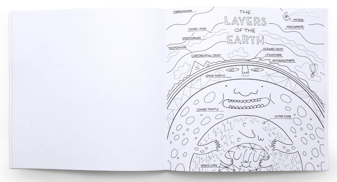 Penguin Random House The Wondrous Of Science and Nature Coloring Book