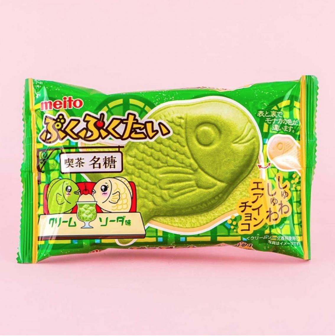 Meiji Meito Fish Shaped Wafer Matcha