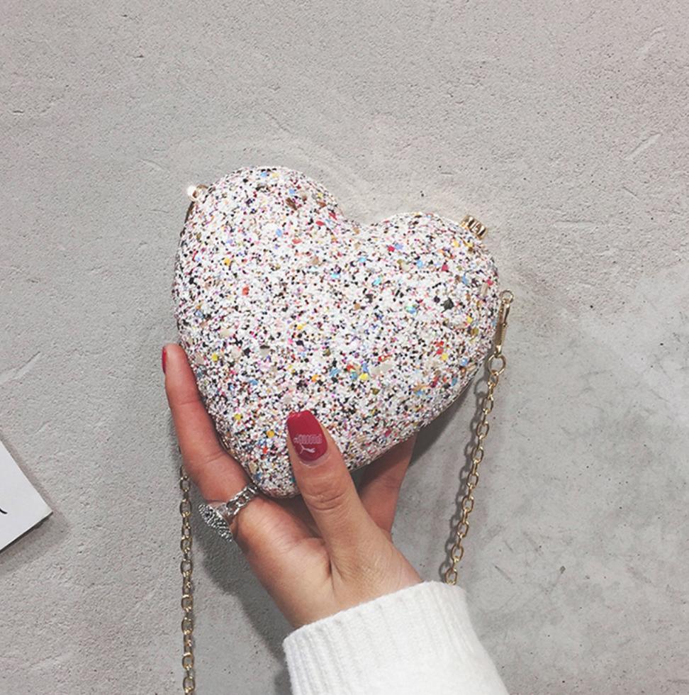 Lingsu Sparkle Heart Purse