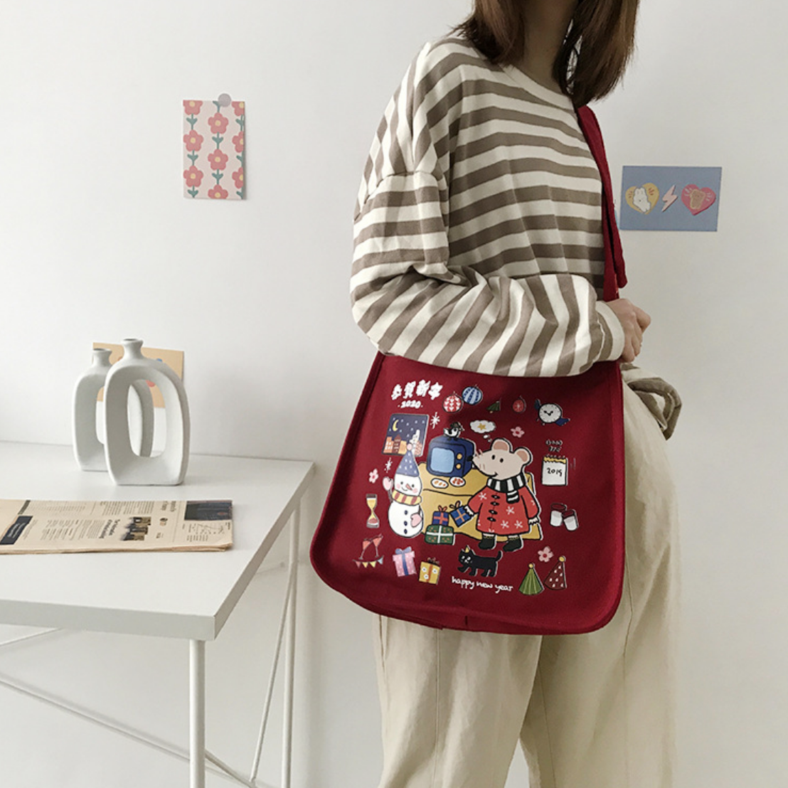 Weifang Holiday Red Tote
