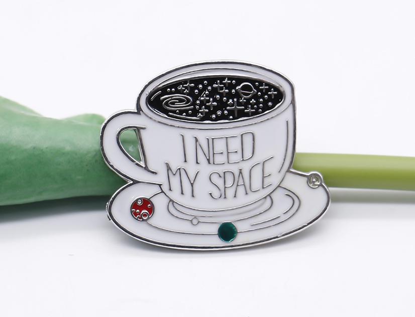 Xiu Hong Coffee Need My Space Pin