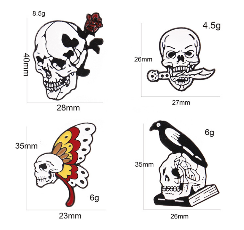 Xiu Hong Skull Pin