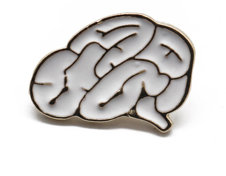 Xiu Hong White Brain Pin