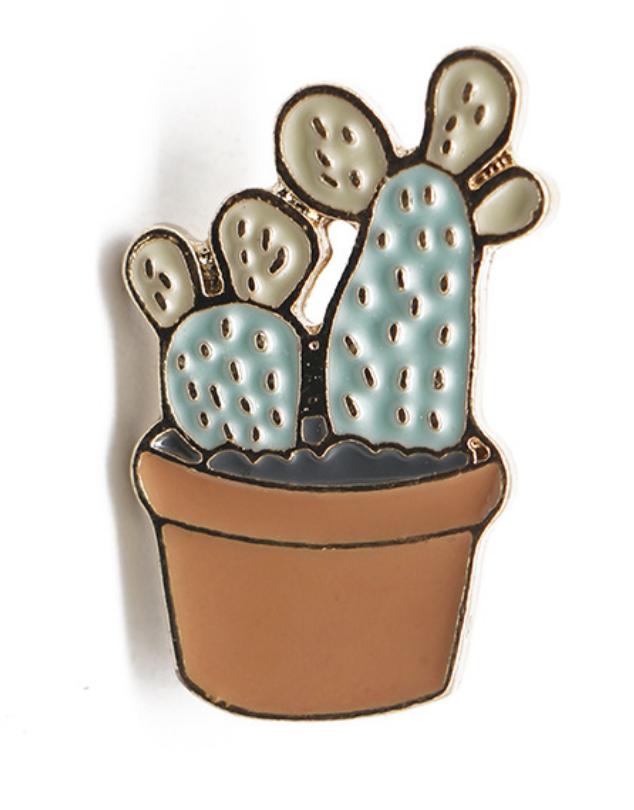 Xiu Hong Green Cactus Pin