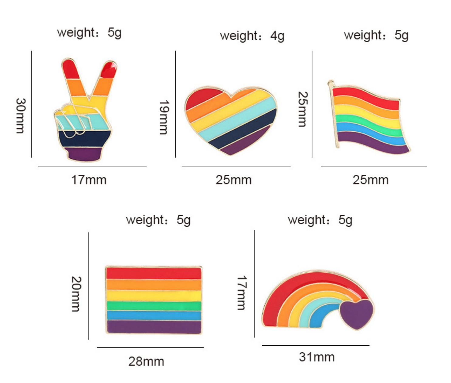 Xiu Hong Rainbow Flag Wave Pin