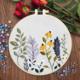 Su Zi Yellow Flowers, Purple Petals Rising flowers 20cm Embroidery