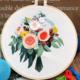 Su Zi Orange Bouquet 20cm Embroidery