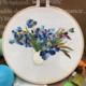 Su Zi Blue Flower in Vase 20cm Embroidery