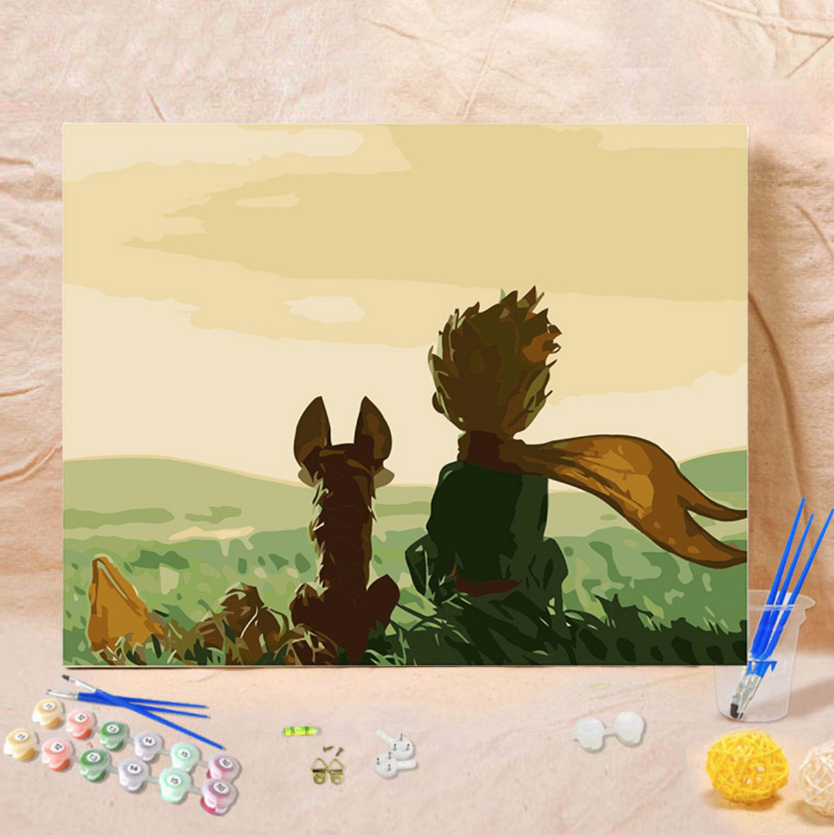 Cai Si Little Prince and Dog DIY Painting