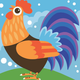 Cai Si Children Rooster DIY Painting