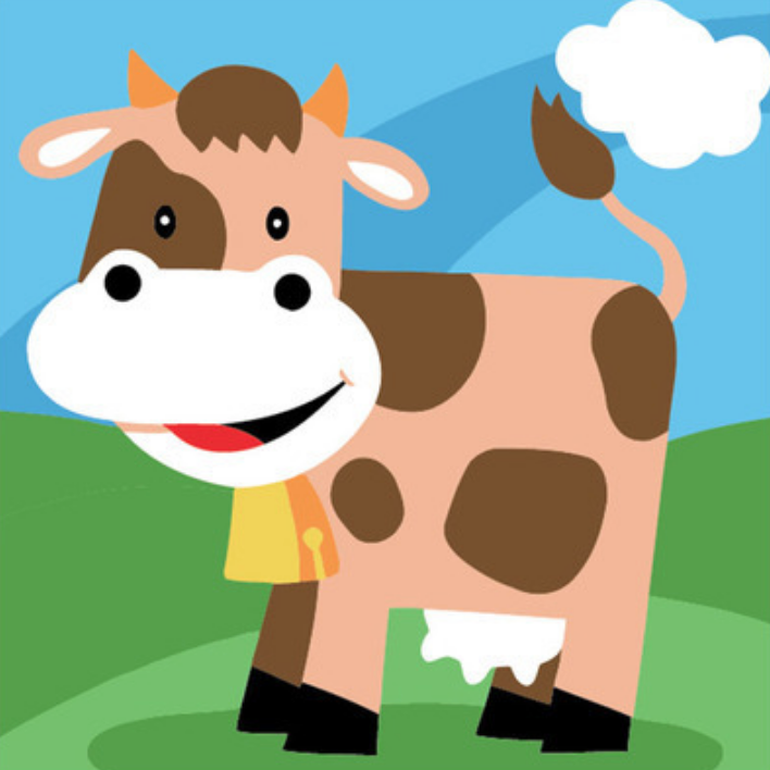 Cai Si Children Cow DIY Painting