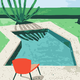 Cai Si Red Chair by Pool DIY Painting