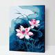 Cai Si Dragonfly and Pink Lotus DIY Painting