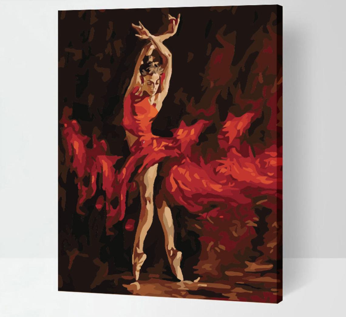 Cai Si Red Ballerina DIY Painting