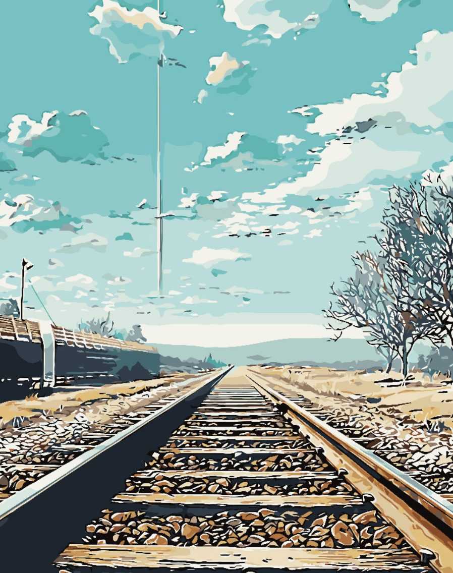 Cai Si Railroad Tracks DIY Painting