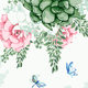 Cai Si Butterfly and Succulent DIY Painting