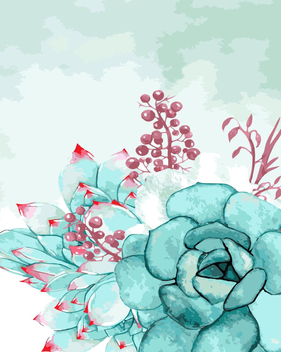 Cai Si Green Succulent DIY Painting