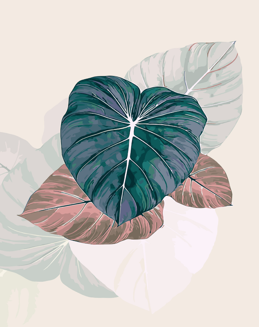 Cai Si Palm Leaves DIY Painting