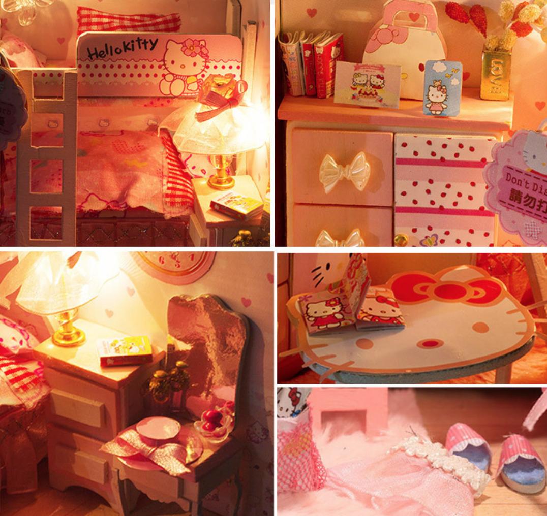 AinoKang iiE CREATE Hello Kitty DIY Bedroom