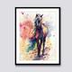 Qing Yun ZT2042-02 Colorful Horse DIY Diamond Dot