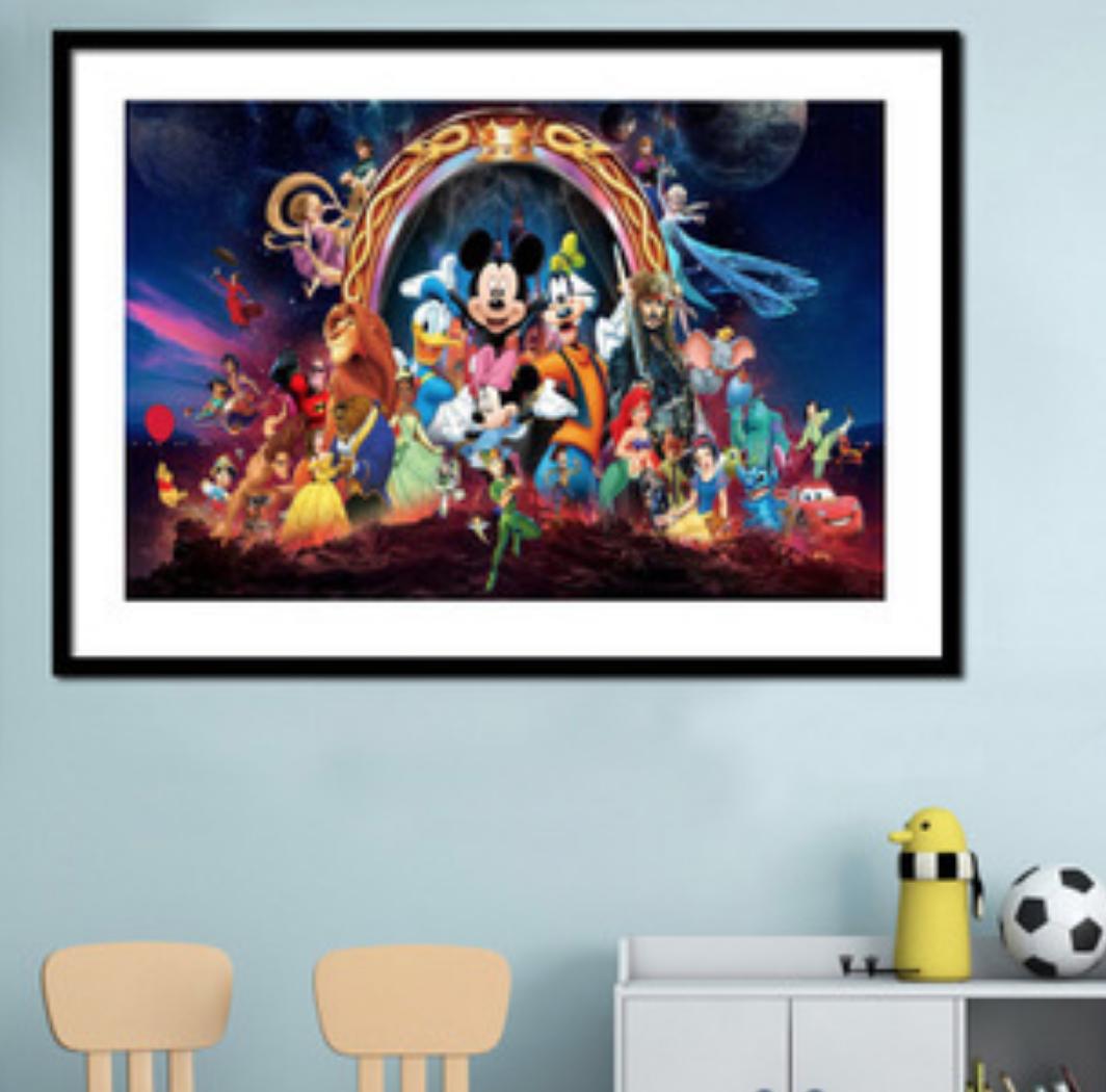 Qing Yun WM1736-01 Disney Group DIY Diamond Dot