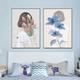 Qing Yun ZT6234-02 Blue Flower Girl DIY Diamond Dot