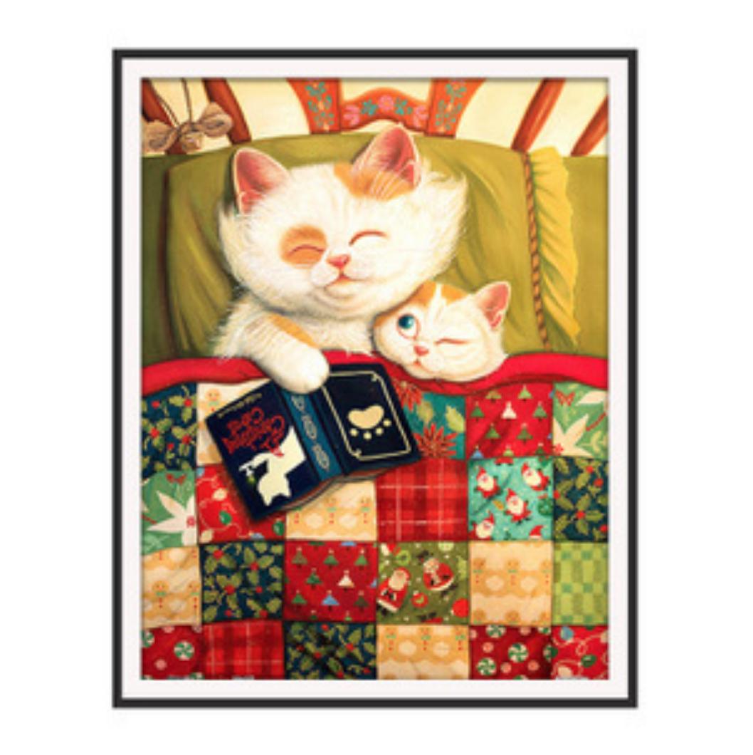 Qing Yun ZT7124-03 Cats taking a Nap DIY Diamond Dot