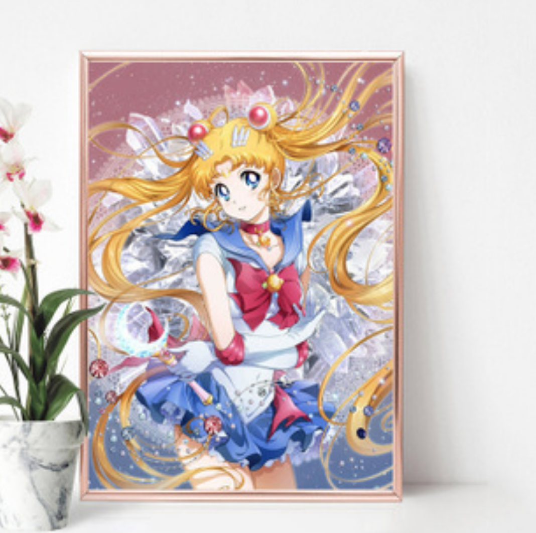 Qing Yun WM3209-04 Sailormoon Heart Crystal DIY Diamond Dot